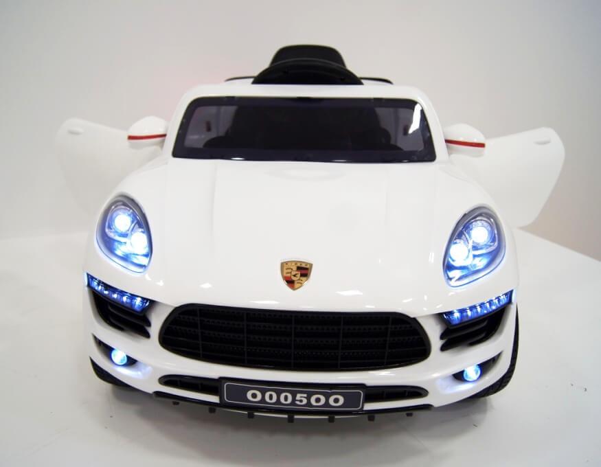 Купить Электромобиль River-Toys Porsche Macan O005OO VIP белый с ДУ, Детские электромобили