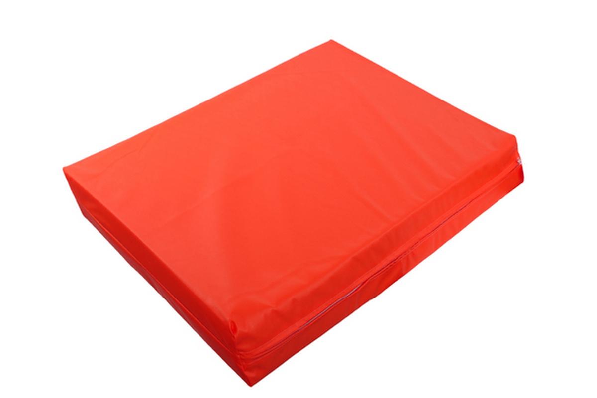 Мат гимнастический 1000x1000x100мм красный
