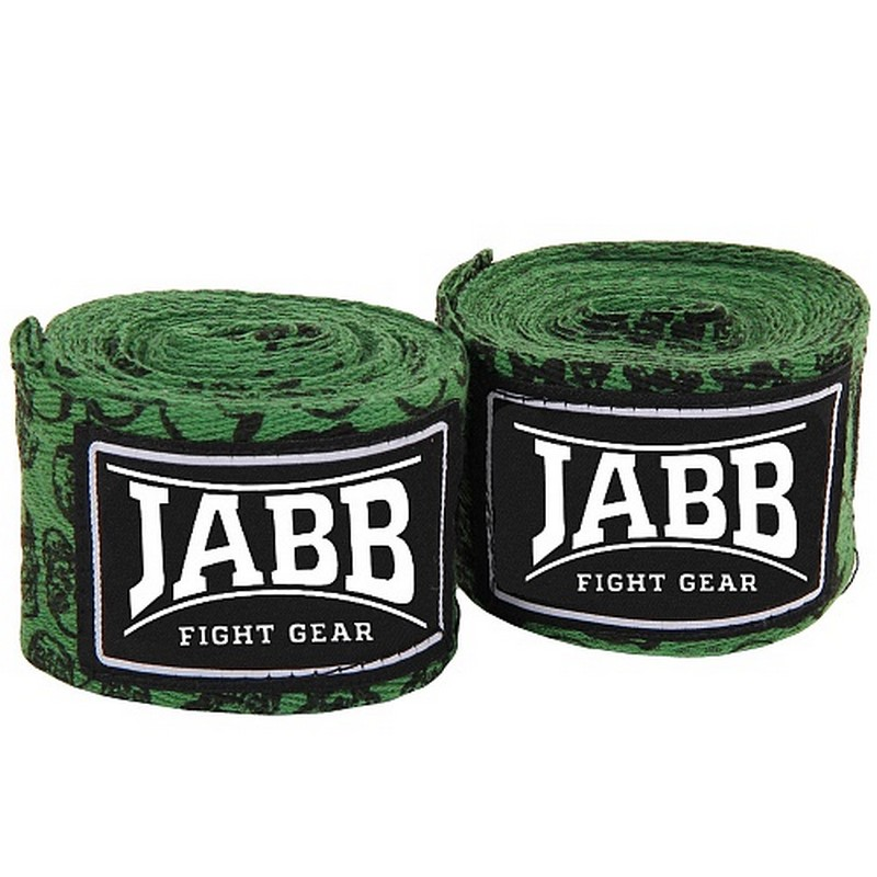 Купить Бинты боксерские l3,5м Jabb JE-3030 зеленыйчерепа,