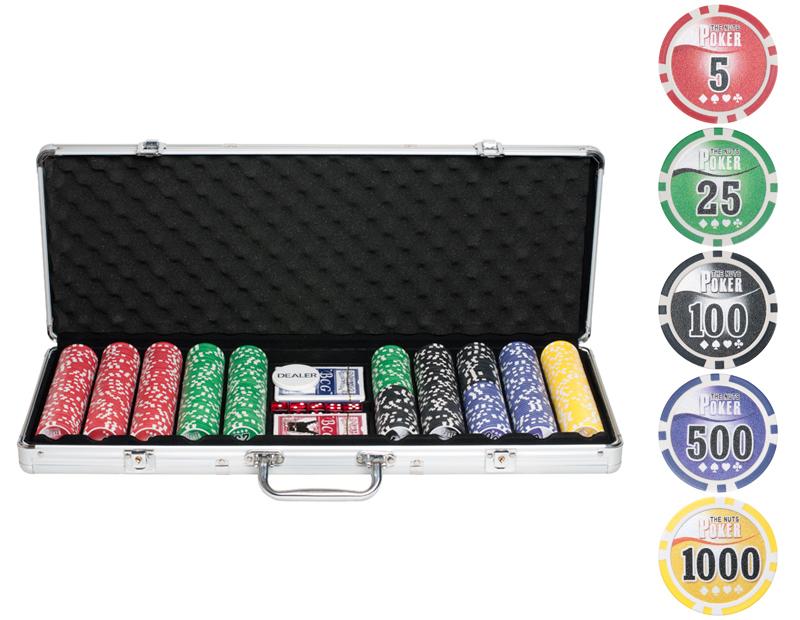 Набор для покера Partida Nuts на 500 фишек