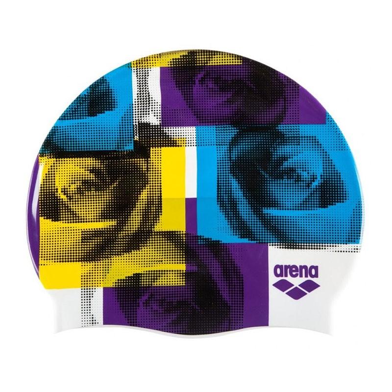 Купить Шапочка для плавания Arena Print 2 1E368220, мультикалор, принт Sonia multi, силикон,