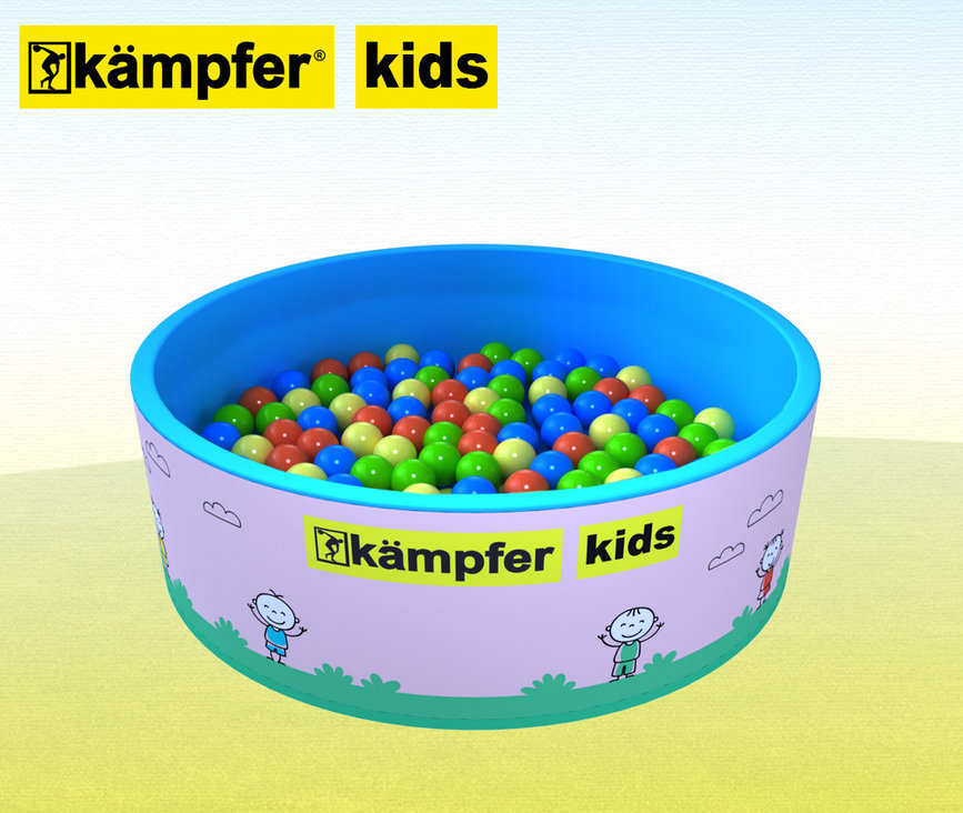 Сухой бассейн Kampfer Kids 100 шаров, розовый