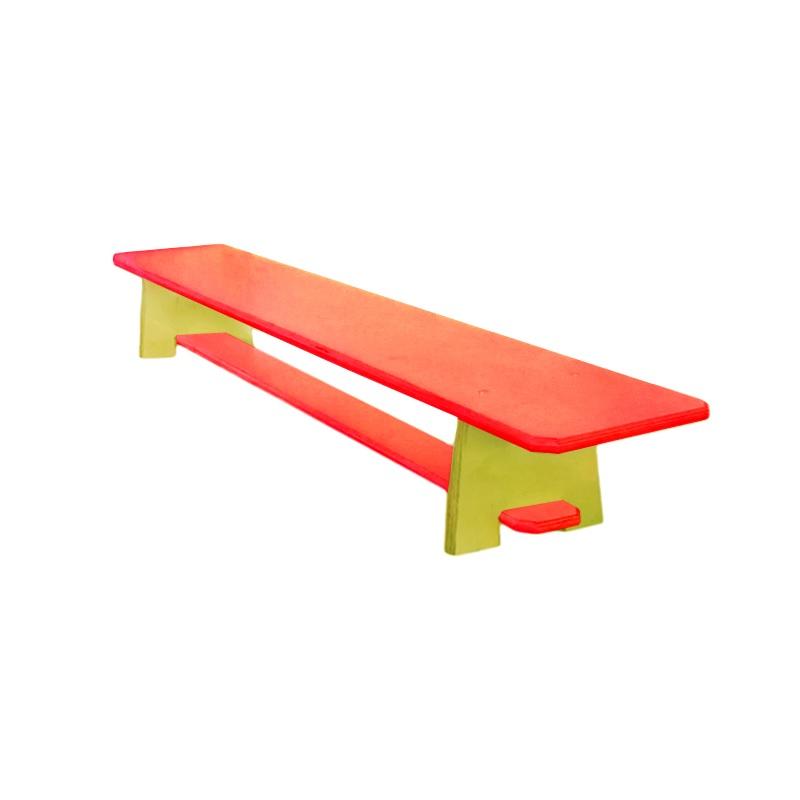 Купить Скамейка для детского сада цветная 1500 мм Dinamika ZSO-002335,