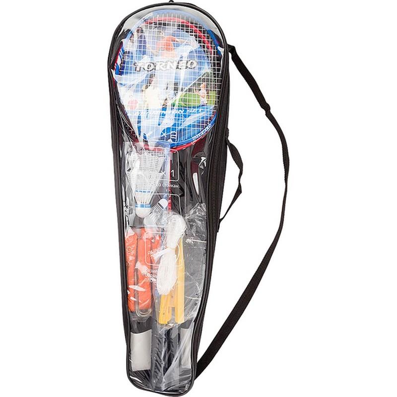 Набор для бадминтона Torneo RS-2100 (ракетки, воланы, сетка, стойки)