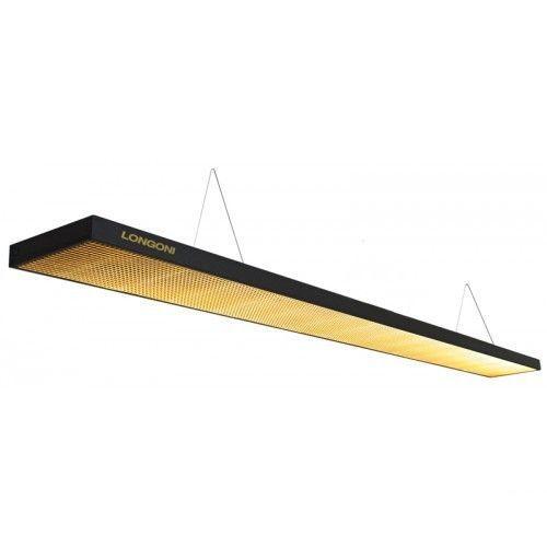 Лампа плоская светодиодная Norditalia Longoni Compact (черная, золотистый отражатель) 75.247.10.7