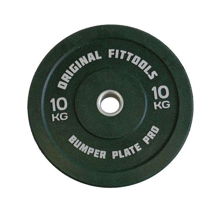 Диск бамперный Original Fit.Tools 10 кг (зеленый) FT-BPG-10 фото