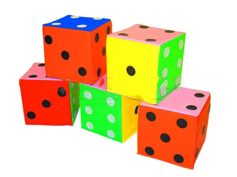 Купить Мягкий куб Игральные кости 30х30х30см, NoBrand