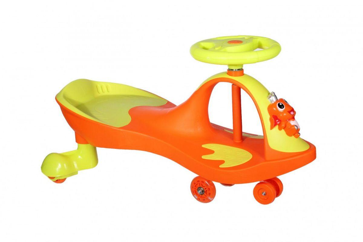 Машинка детская с полиуретановыми колесами Bradex Бибикар-лягушонок оранжевый DE 0271 от Дом Спорта