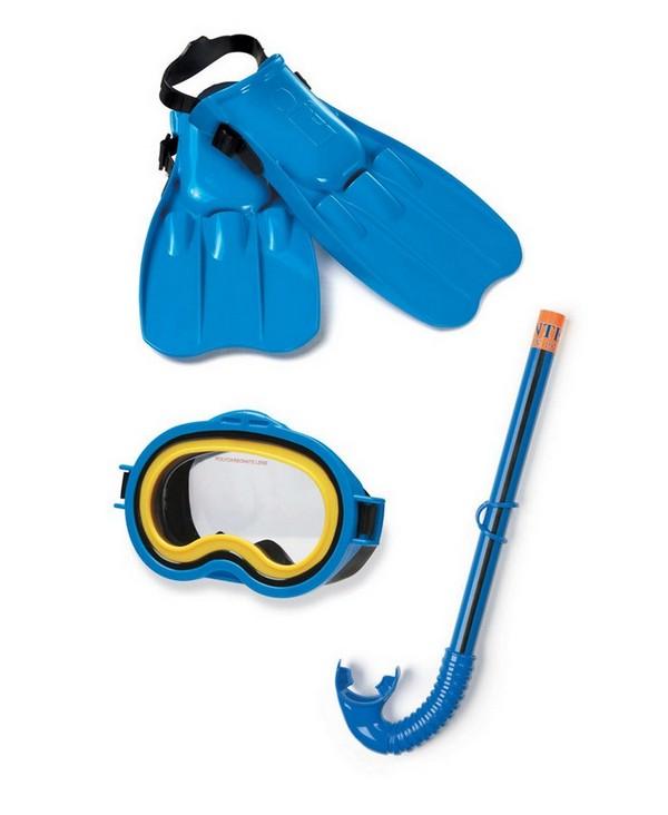 Набор для плавания маска трубка ласты Intex 55952