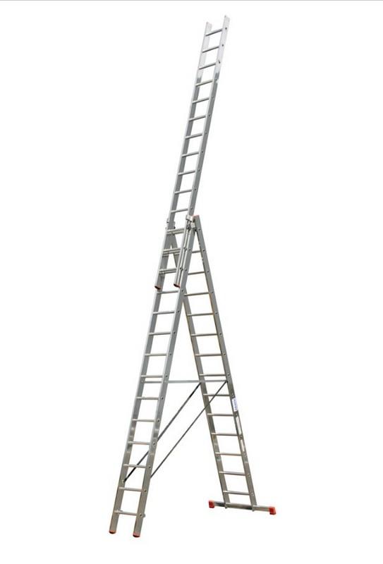 Универсальная лестница Krause MONTO TRIBILO 3х14 перекладин, 410-1025 см 120717 лестница krause tribilo 121226