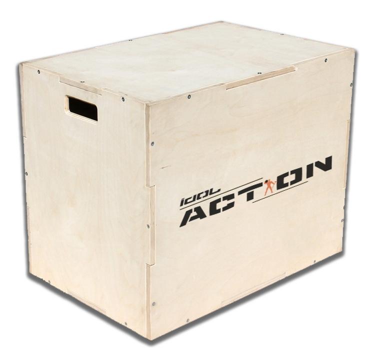 Картинка для Деревянная прямоугольная тумба IDOL Action для запрыгиваний 50-60-75 см