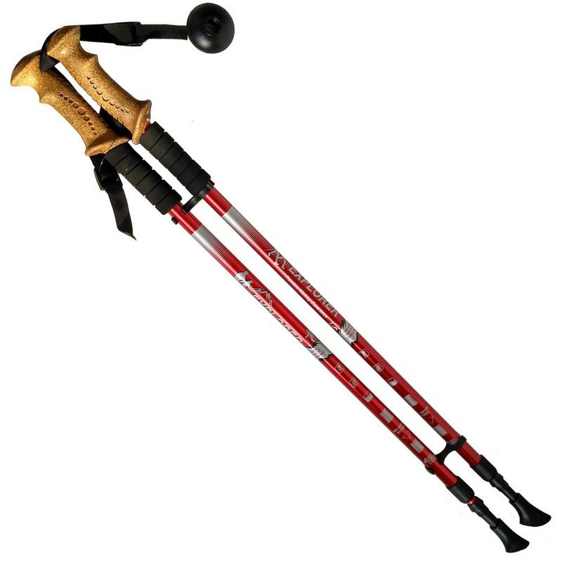 Купить Палки для скандинавской ходьбы телескопическая, 2-х секционная R18142-PRO красный, NoBrand