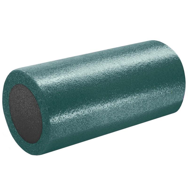 Купить Ролик для йоги полнотелый 2-х цветный 30х15см B31510-9 темно-зеленыйсерый, NoBrand