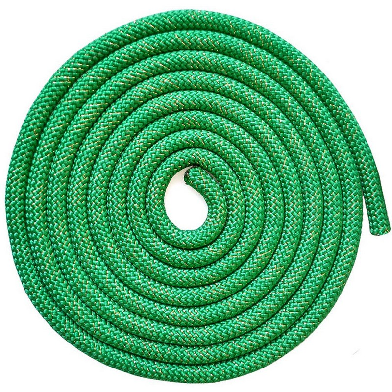 Скакалка для художественной гимнастики 3 м Pro SKG10-12 зеленый с блестками фото