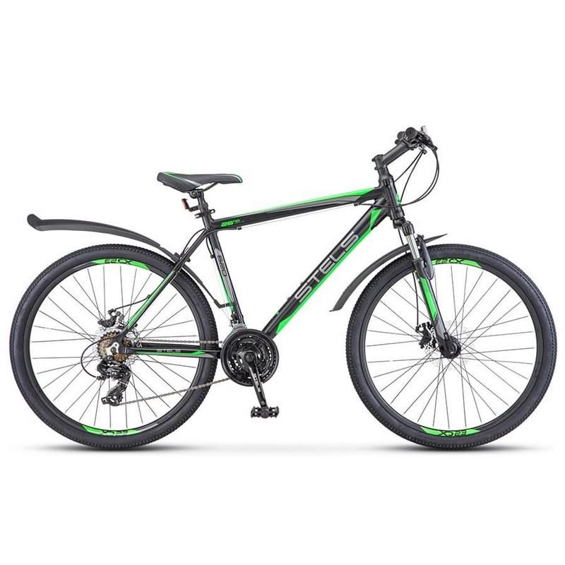 Купить Велосипед Stels Navigator 620 MD V010 2017 ЧёрныйЗелёныйАнтрацит (LU088804),