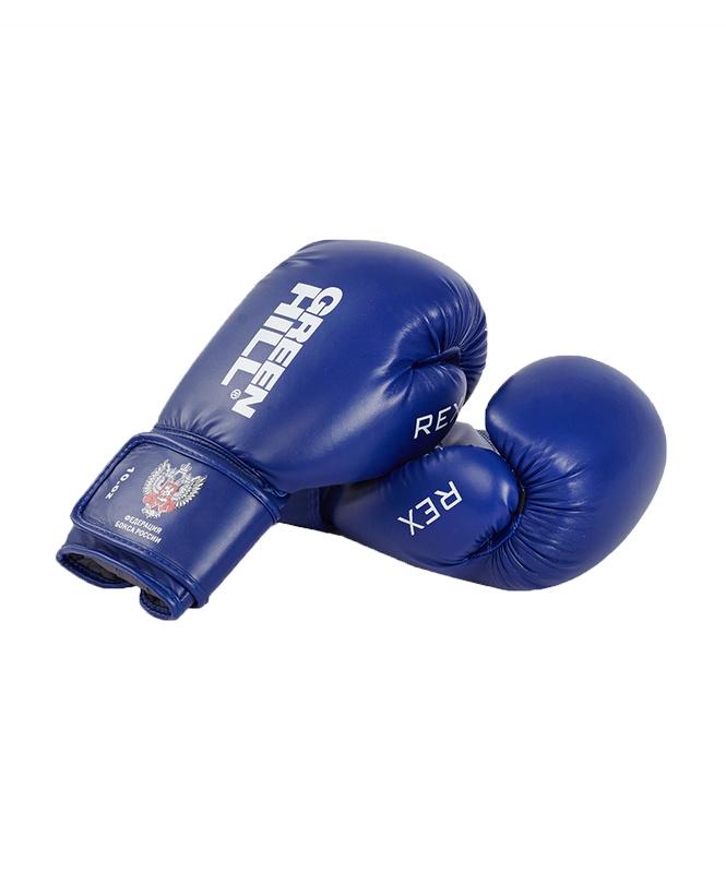 Купить Боксерские перчатки Green Hill REX BGR-2272,12 oz к/з, синий,