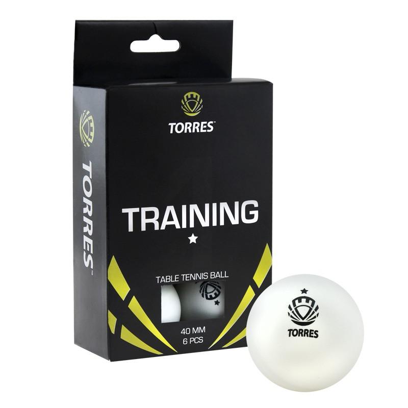 Купить Мячи для настольного тенниса Torres Training 1* 6 шт TT0016 белый,