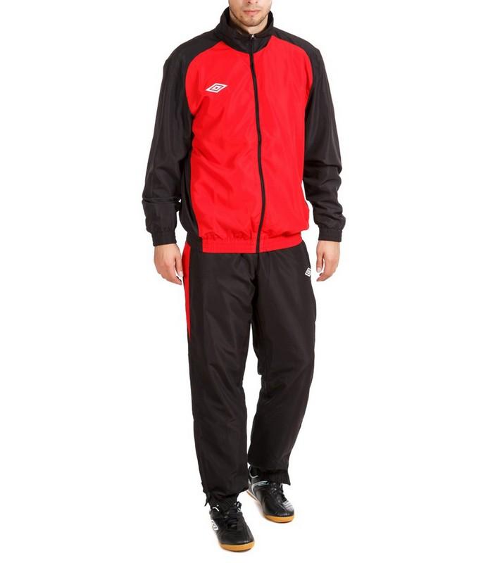 Костюм спортивный Umbro Uniform II Lined Suit мужской 463014 (261) красн/чер/бел.
