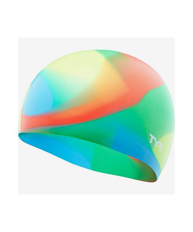 Купить Шапочка для плавания TYR Tie Dye Junior Swim Cap, силикон, LCSJRTD/465, синий,