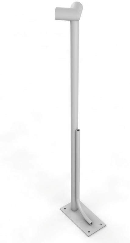 Купить Однорядный напольный угловой кронштейн Glav 18.105,