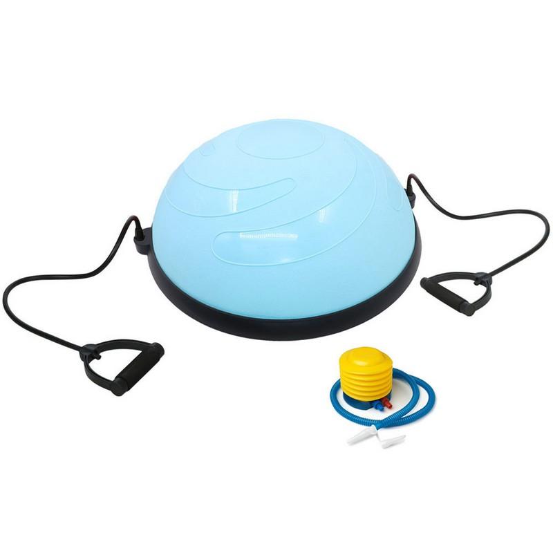 Купить Полусфера Bosu гимнастическая, d58см, BOSU060-32 голубая (с эспандерами и насосом B33048),
