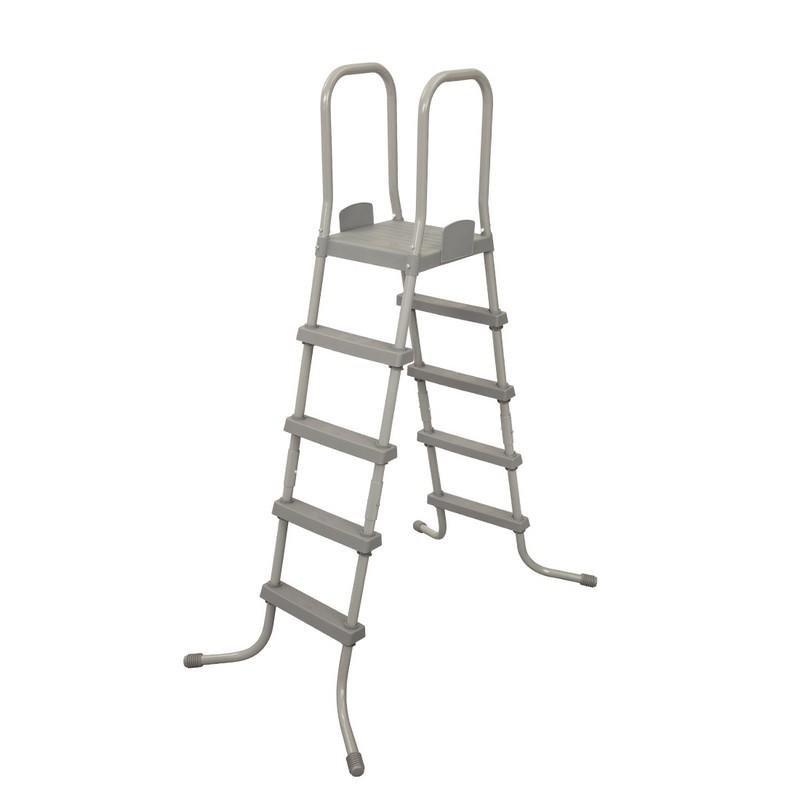 Купить Лестница для бассейнов, со съемными ступенями, высота 132 см Bestway 58337,