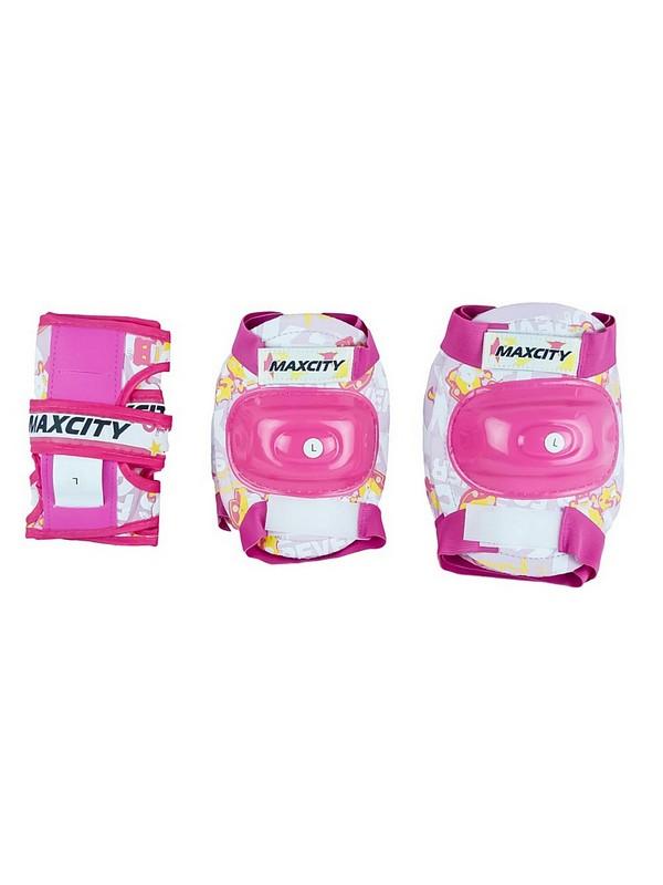 Роликовая защита MaxCity Teddy розовый детская