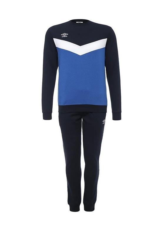 Костюм спортивный Umbro Unity Cotton Suit мужской 353015 (719) син/бел/т.син.