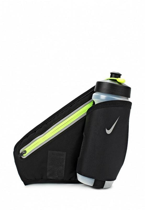 Пояс для бега Nike Lean 22 Oz Hydration Waistpack Osfm Black/Volt чер/зел