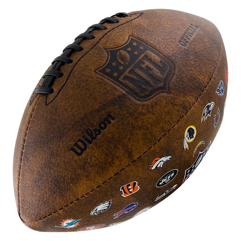 Мяч для американского футбола Wilson NFL 32 Team Logo WTF1758XBNF32 от Дом Спорта