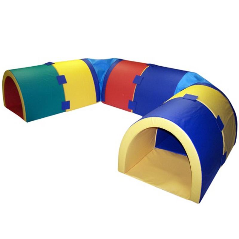 Купить Игровой тоннель лабиринт 8 секций с креплениями (мягкое дно) Dinamika ZSO-002042,