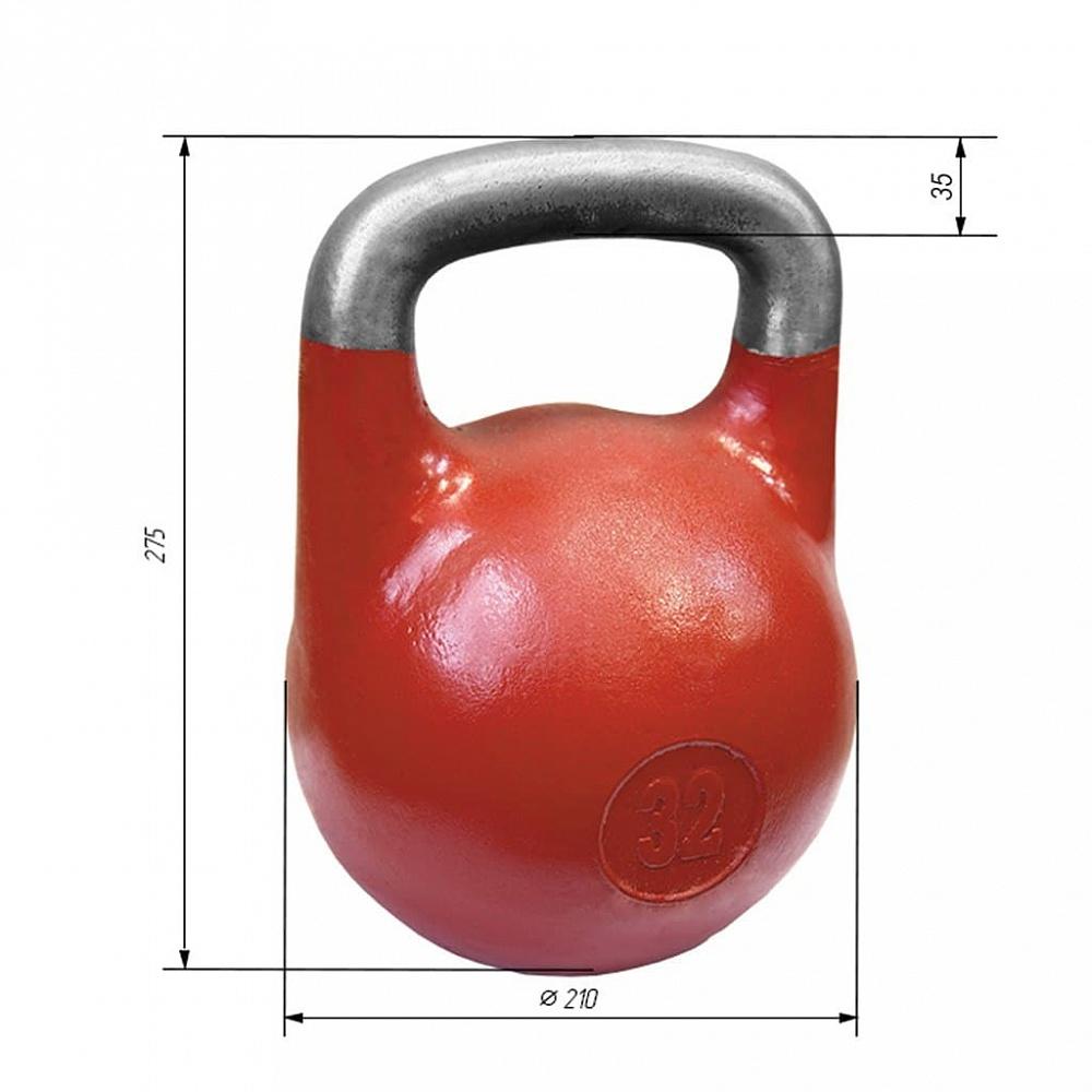 Купить Гиря соревновательная Iron King 32 кг. стандарт 2021,