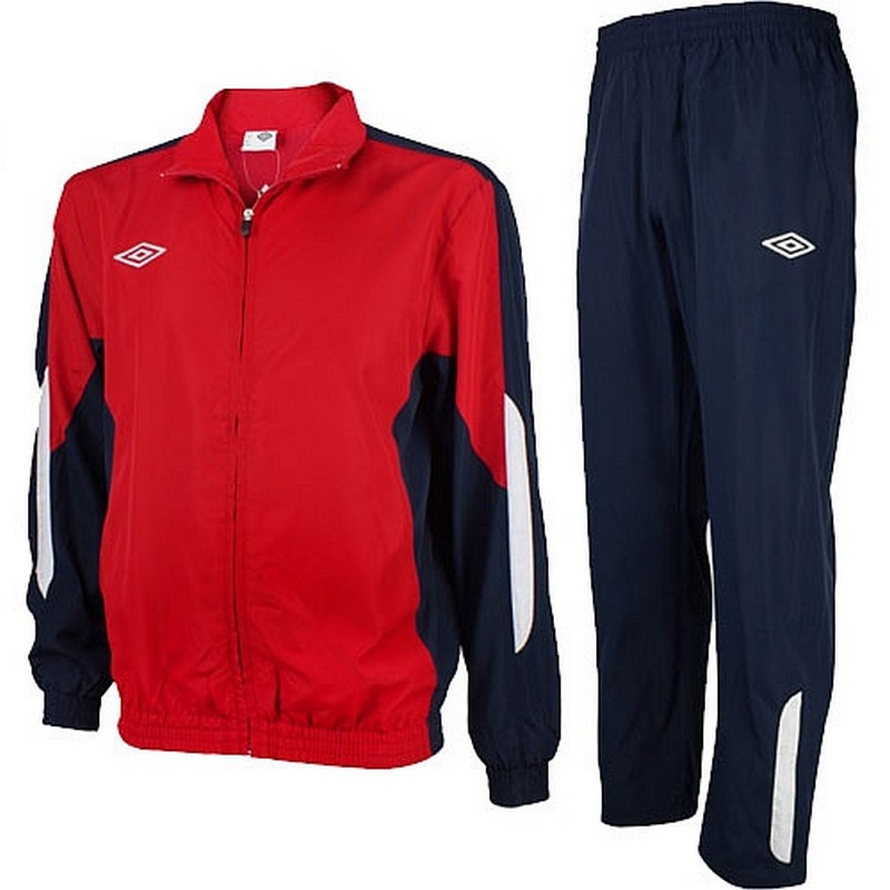 Костюм спортивный Umbro Woven Suit парадный 465013 (291) красн/т.син/бел.