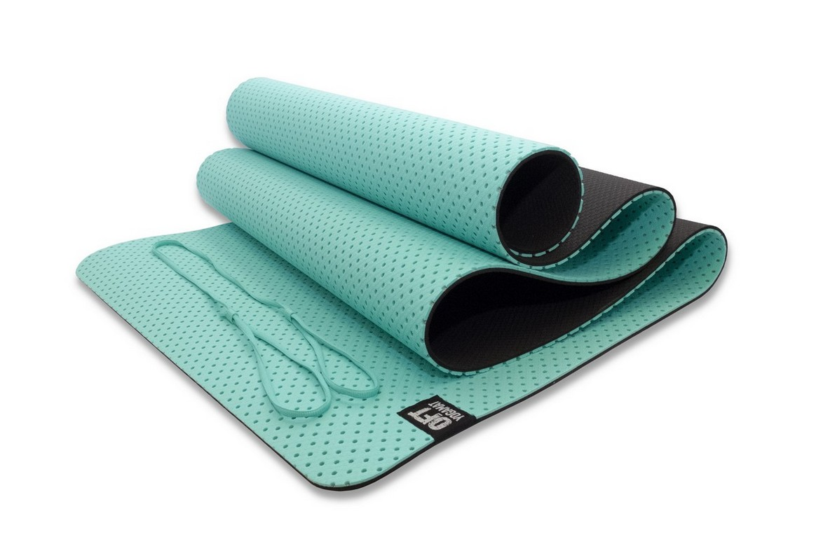 Мат для йоги Original Fit.Tools FT-YGM6-3DT-LAKEBLUE морская волна