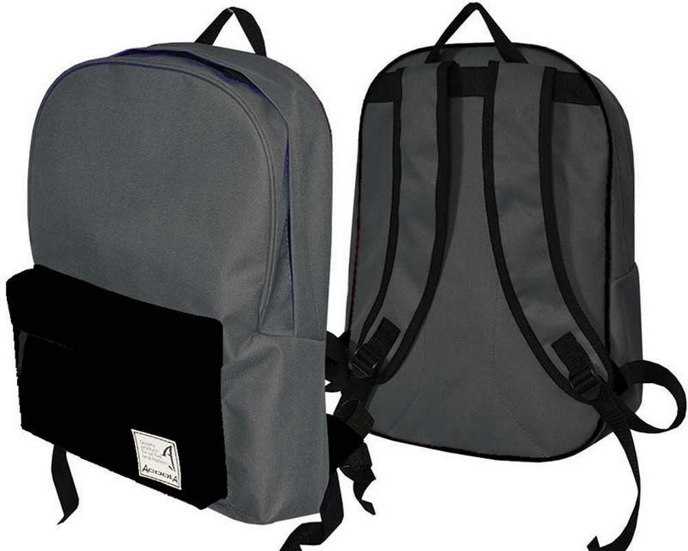 Рюкзак Барс Acoola City Style Basic, серый-черный