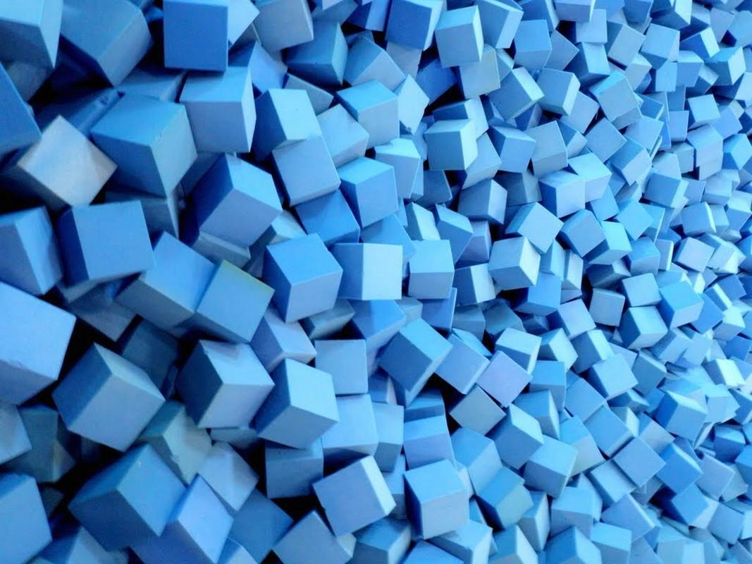 Купить Кубик поролоновый 200х200х200мм, пл. 16кг/м3, цветной, NoBrand