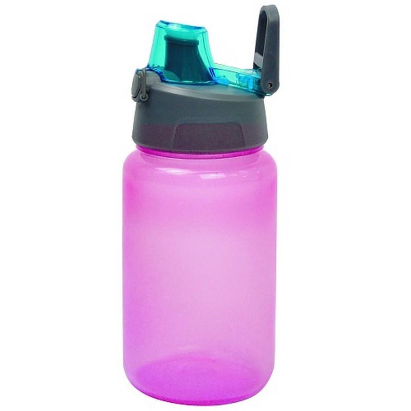 Бутылка для воды Bool-Bool с автоматической кнопкой, 500 ml, розовый NoBrand