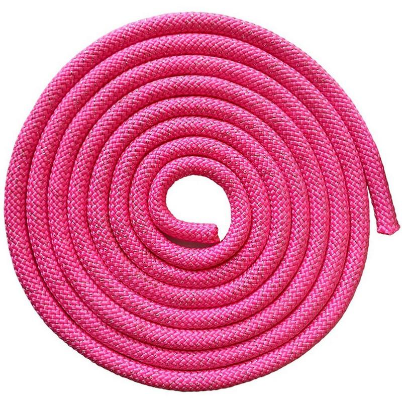 Купить Скакалка для художественной гимнастики 3 м Pro SKG10-09 розовый с блестками, NoBrand