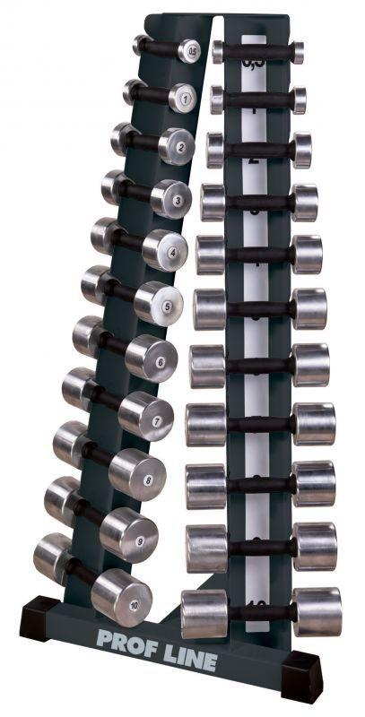 Купить Стойка с набором гантелей хромированная 0,5 до 10 кг V-Sport ST-410,