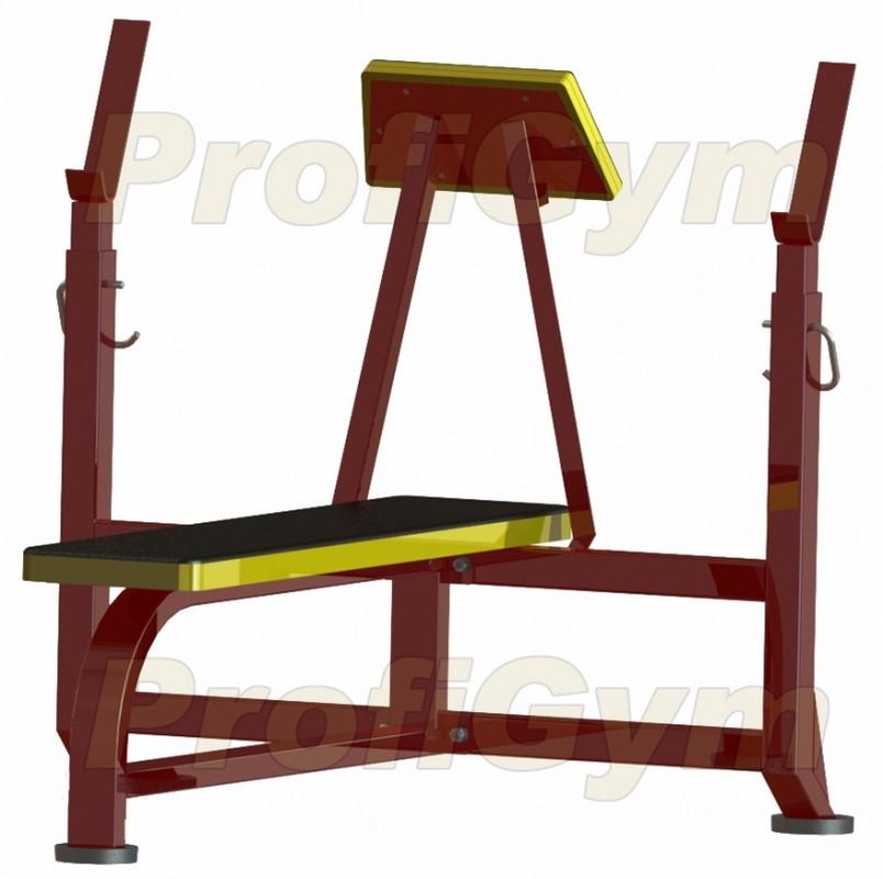 Купить Скамья для жима с упором партнера ProfiGym СК-0060-HР (Rubin),