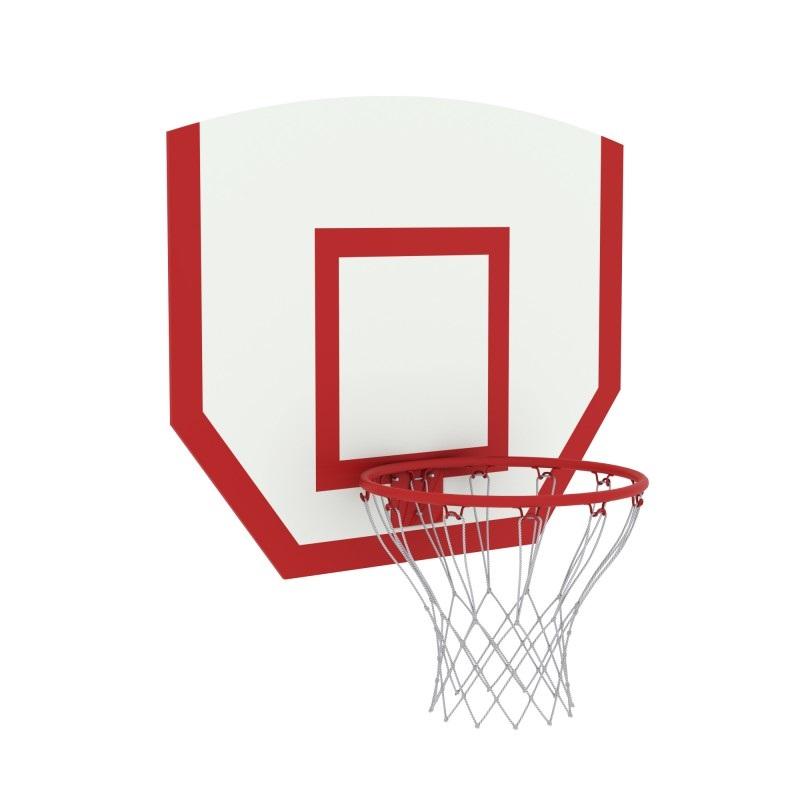 Щит баскетбольный навесной детский фанера с кольцом №3 и сеткой Dinamika ZSO-002535