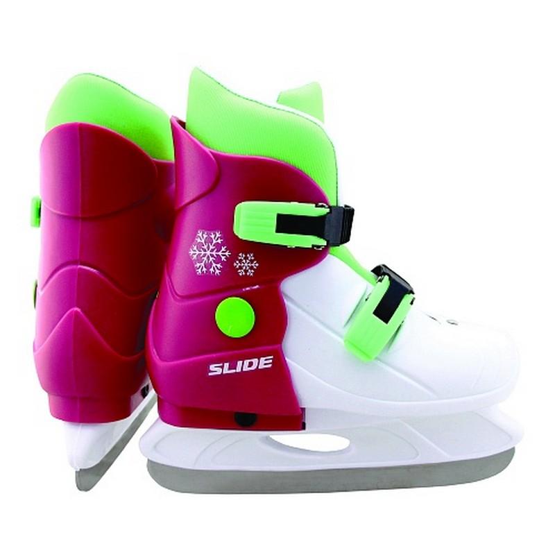 Купить Коньки ледовые раздвижные Larsen Slide Pink, Коньки детские