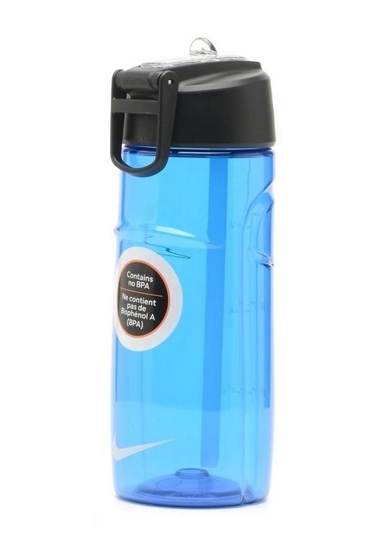 Бутылка для воды Nike T1 Flow Water Bottle 16oz Game Royal/Black 470мл бутылка для воды oem 480 16oz folding water bottle 480ml