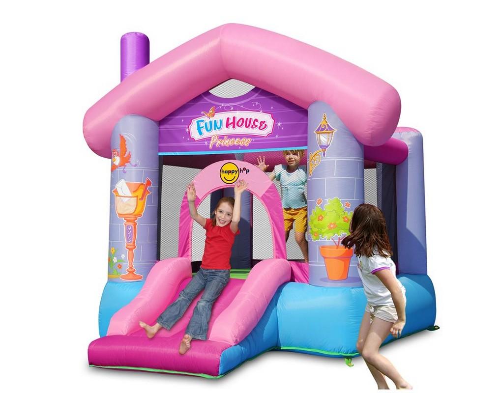 Детский надувной батут Happy Hop Дом принцессы 9215P