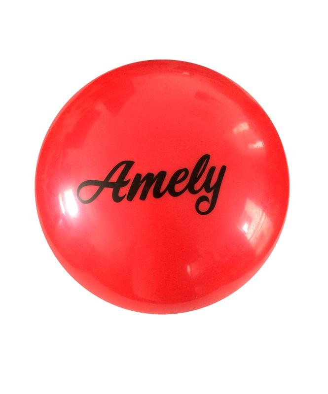Купить Мяч для художественной гимнастики Amely AGB-101 D=19 см, красный,