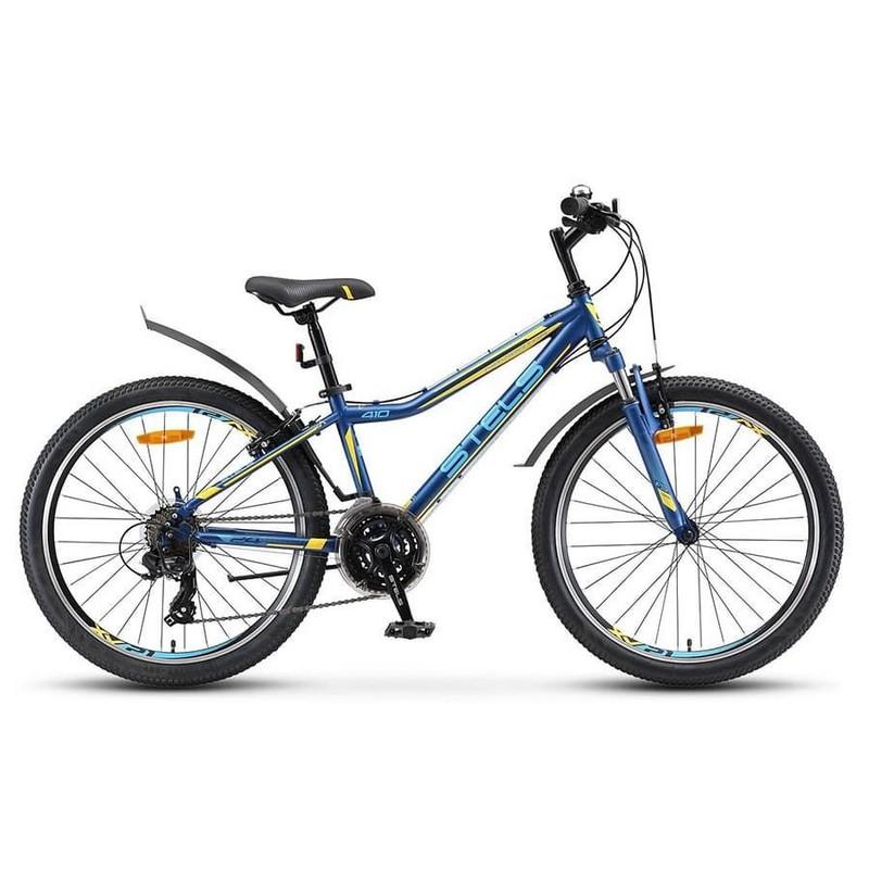 Купить Велосипед Stels Navigator 24 410 V 21 sp V010 2019 Темно-синийЖелтый (LU091557),