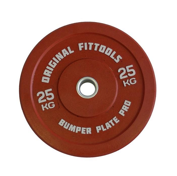 Купить Диск бамперный Original Fit.Tools 25 кг (красный) FT-PBRD-25,