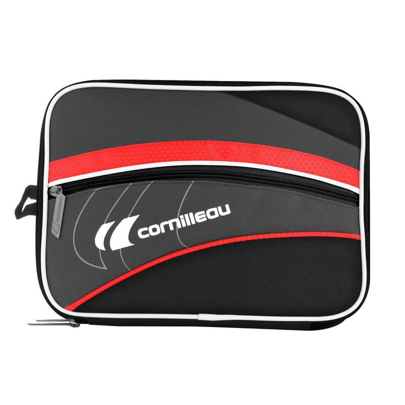 Чехол Cornilleau прямоугольный с двумя отделениями Fittcare 659000 черно-красный