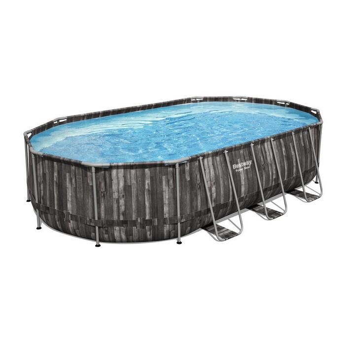 Купить Бассейн на опорах Bestway 610х366х122см (фильтр-насос 5,6 м3/ч, лестница, тент) 5611R,