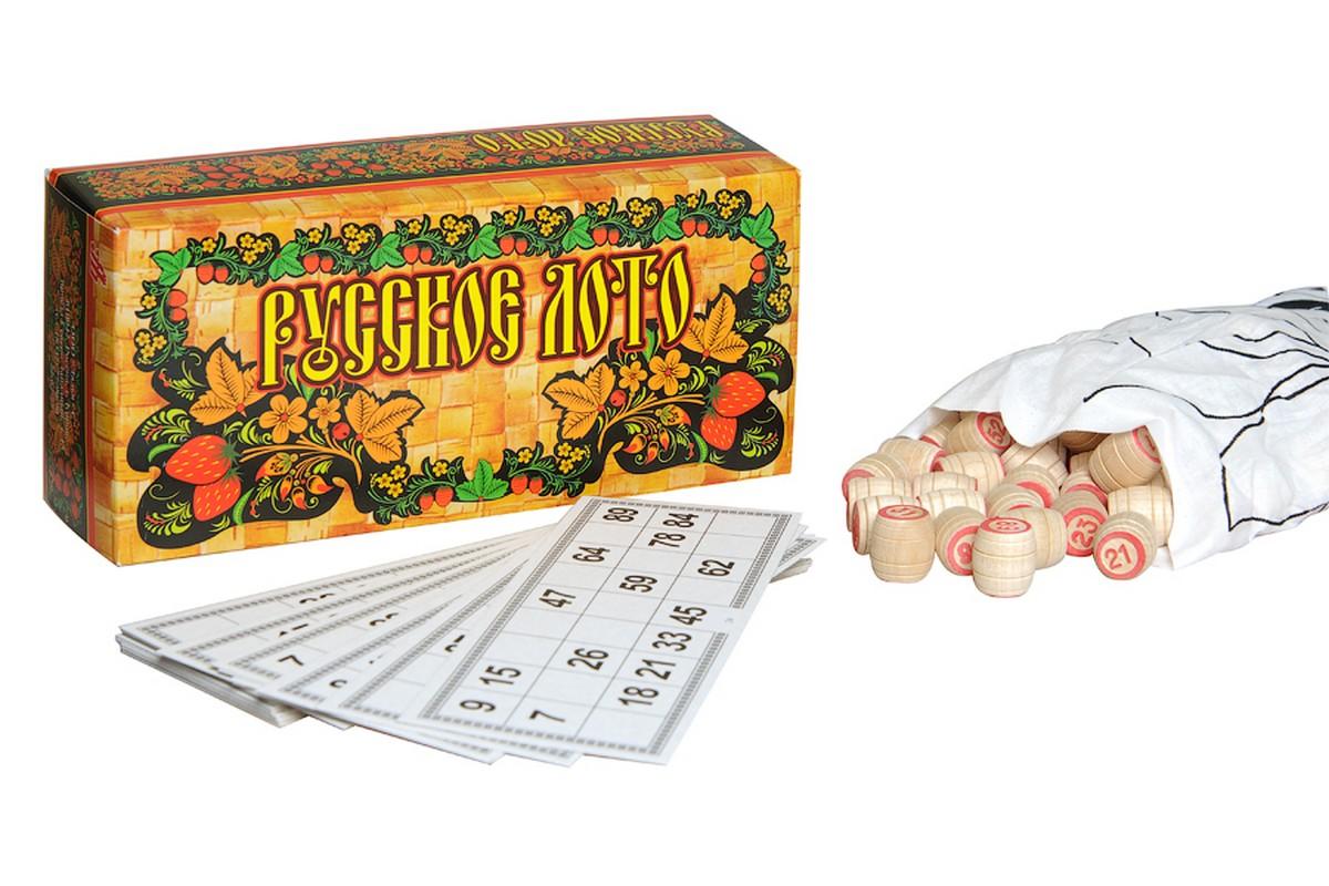 Купить Русское Лото Роспись в картонном боксе С-197, NoBrand